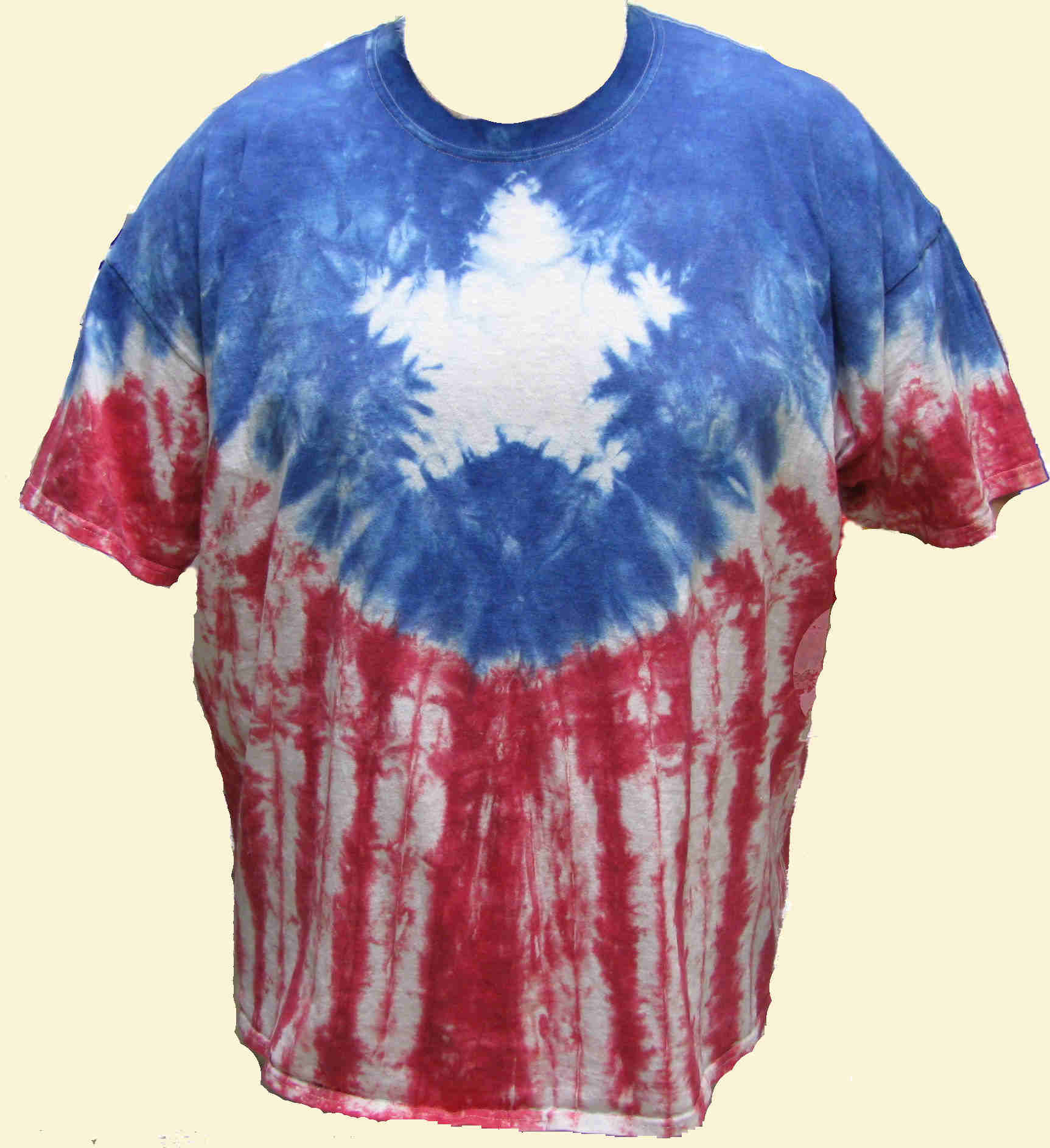 Patriotic Star Tie Dyed T-Shirt