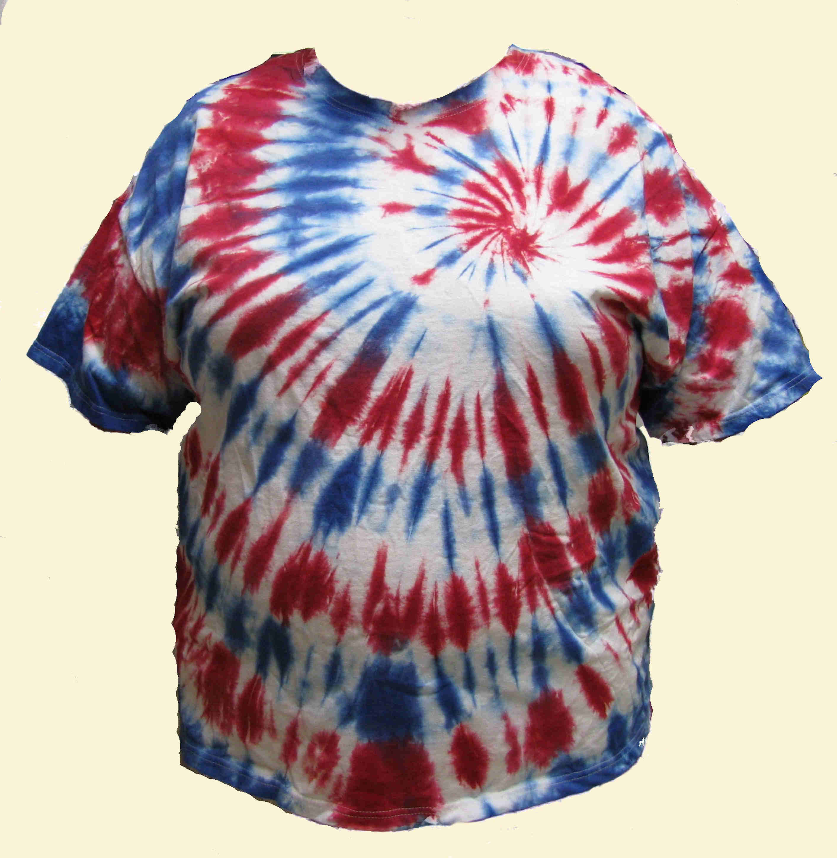 Red, White and Blue Tie Dyed T-Shirt