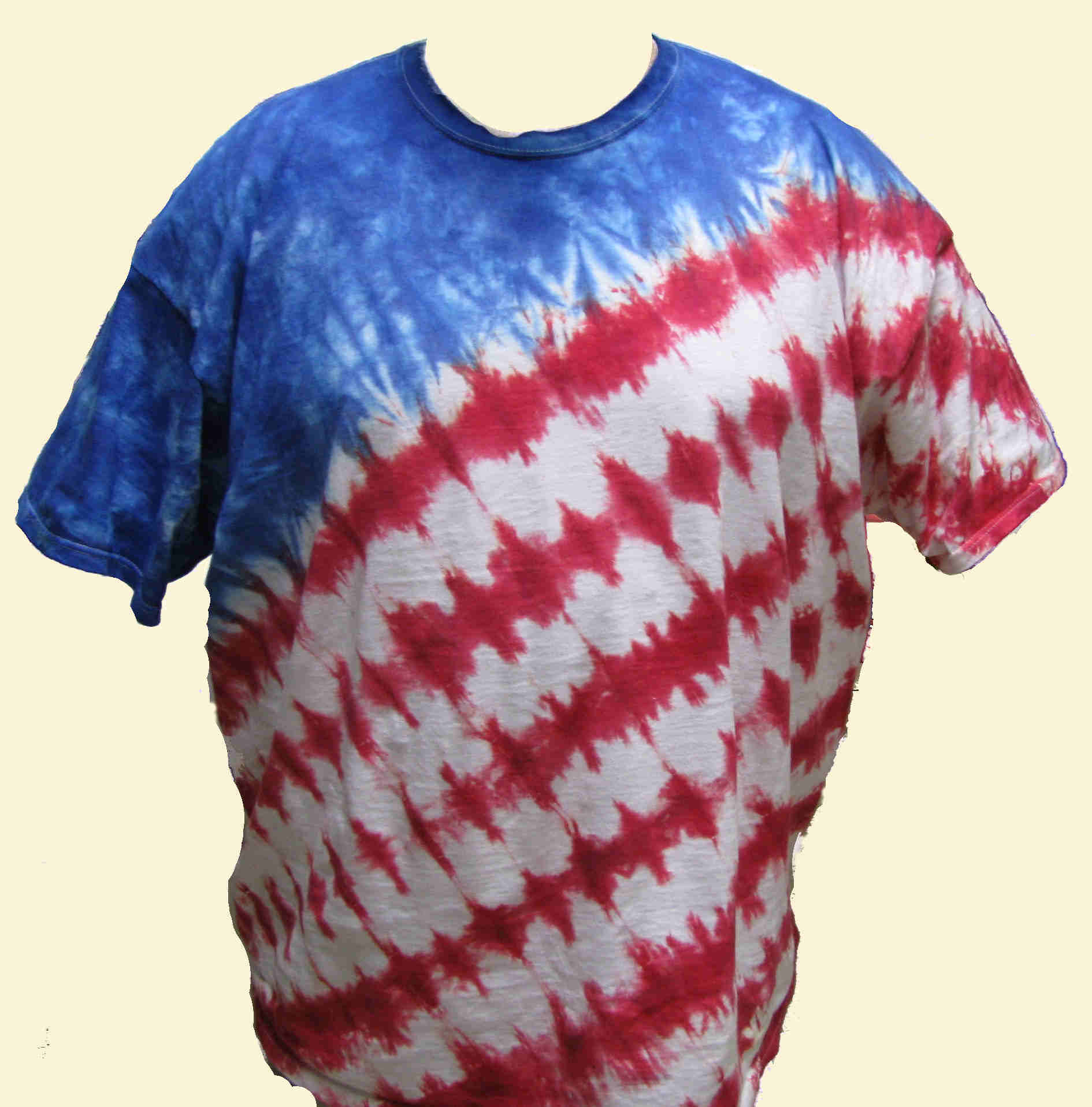 Wavy Flag Tie Dyed T-Shirt
